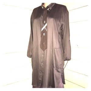 Olivaceous brown shirt dress nwot